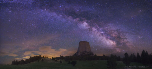 starstructure:  The Milky Way, over Devil's Tower National Monument.