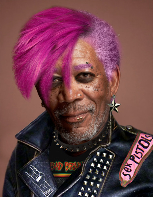 Punk Rock Morgan Freeman