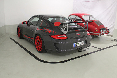 "scoobsti:  fuckyeahbestcars:  grooveycars:  Porsche 911 GT3RS (by GrooveyCars)  How did he find two of the same car parked next to eachother?  ""It's just a Beetle."" -Jeremy Clarkson"
