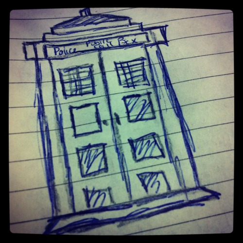the-doctors-beloved-companion:  Tardis Doodle