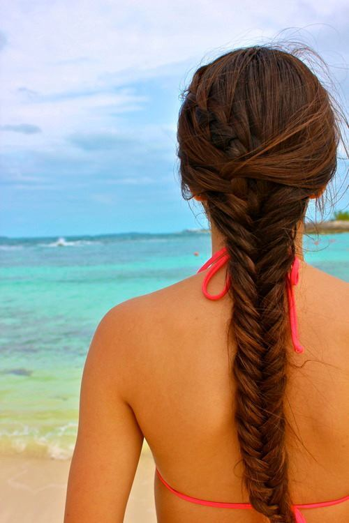 createthislookforless:  Fishtail braid in paradise!