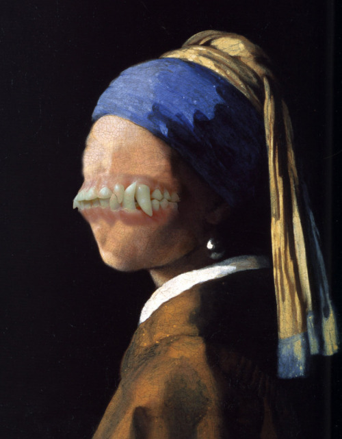 The Mutant With the Pearl Earring(apologies to Vermeer!)Sean Hopp. Collage. 2012.