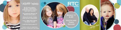 Spring/Easter Mini Sessions are here!  Now is your chance to have a family session with RTC PhotoWork! [[MORE]] $115 Includes*:30 Min. Sessions$45 Product credit10% off printsAccordion books & minis available from the mini sessions.Donate baby items for the Fort Worth Pregnancy Center for an extra discount.Call 682.553.3644 or email t.jcurry@yahoo.com to book your time slot.Limited availability, and first come, first served.  Mini sessions available for babies of 3 months or older, children, couples, and families.*Additional fee to lengthen time slot.  Taxes not included.   If you or someone you know is expecting and is interested in maternity or newborn photography, contact me using the contact form or send me an email.  The first weeks are so important!  For more information on when to have a newborn session, read this blog post.   Oh yeah!  All photos and written content on RTC PhotoWork blog are copyright to RTC PhotoWork.  None of these photos are to be printed or posted anywhere, whether in part or in whole, unless given the express permission of RTC PhotoWork.  Please contact me at t.jcurry@yahoo.com for permission if you would like to repost any images or content.