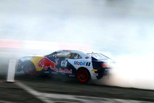 Red Bull gives you… tire smoke.