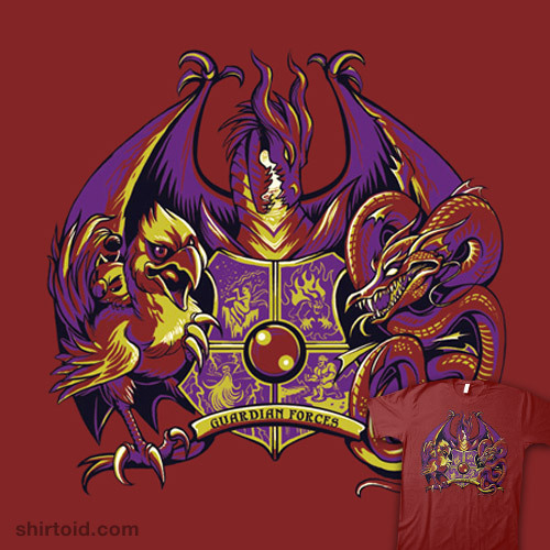 shirtoid:  Guardian Forces available at Level Up Studios