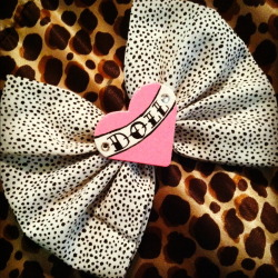 newly listed, this super cute DOLL bow  click on image to get sent to the listing or follow the link below: http://www.etsy.com/listing/94928611/doll-lg