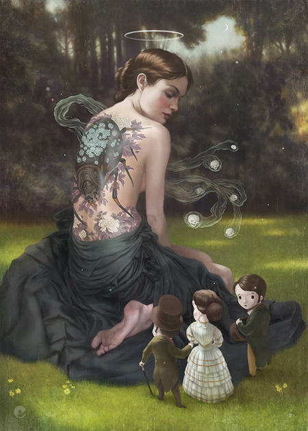 artparasite:  A Moment Of Clarity, Tom Bagshaw - - - Follow Tom Bagshaw on Tumblr HERE!