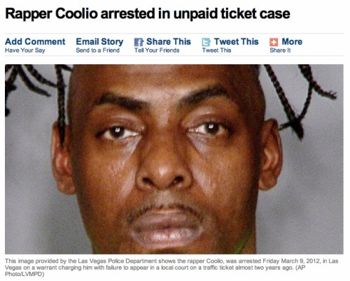 In case you were wondering what Coolio was up to these days. There's a man who hasn't changed much since 1995.