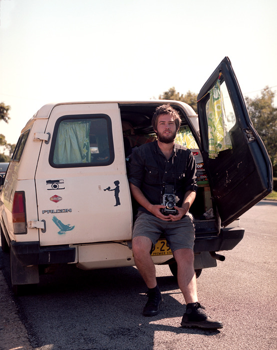 Myles after his trip up the East Coast in his beloved panel van, Marilyn.