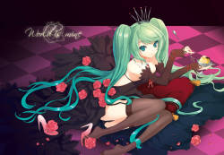 cuteg dress feet garter belt hatsune miku pantsu stockings thighhighs vocaloid world is mine (vocaloid)