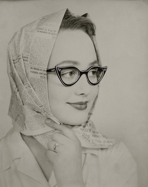 modcloth:  Love this vintage photo-printed scarf, Les Lunettes Noires, c1950 (Chris Tselios)   Facebook | Twitter | Website