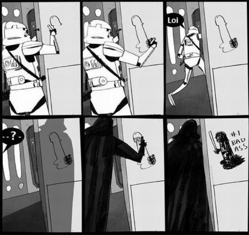 """Darth Vader Sucks!"" - A StormTrooper idea."