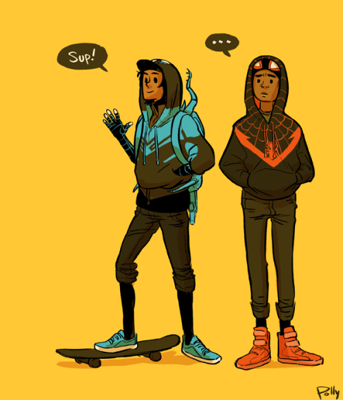 pollums:  Jaime Reyes (Blue Beetle) and Miles Morales (Spider-Man) ma babies