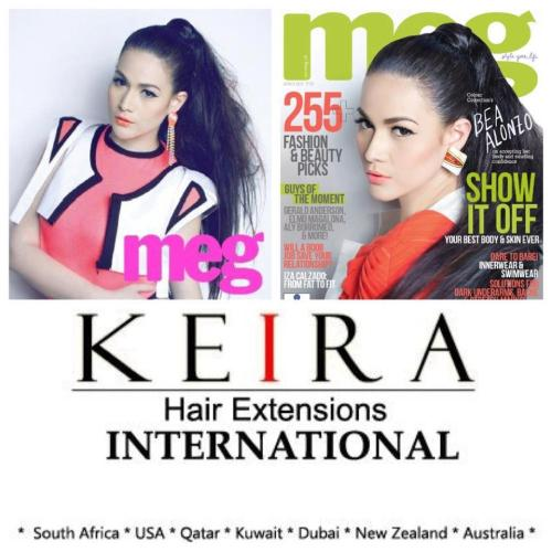 Meg March covergirl Bea Alonzo wears 22 inches long KEIRA Clip-on Human Hair Extensions! Get a copy! Thanks Meg Team :)
