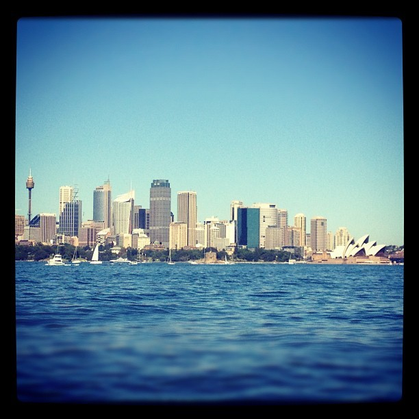 Our trip to the zoo :) I love it when the Sydney harbour is really calm, we were lucky that it was such a beautiful day. l-phelps:Taronga Zoo Ferry (Taken with instagram)