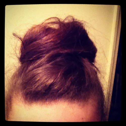 This would be the massive bun I was talking about