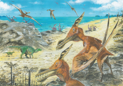 fuckyeahdinoart:  Cretaceous Isle of Wight re-do by ~patriatyrannus