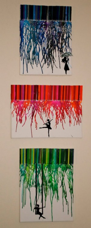 asiaraim:  melted crayon art