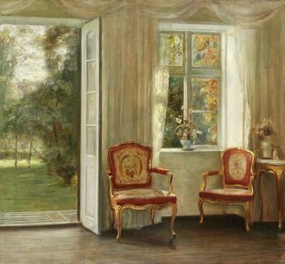 stilllifequickheart:  Carl Holsoe Salon in Vårljus Late 19th - early 20th century