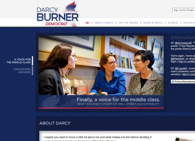 When I was in college, I watched Darcy Burner run for Congress from afar, and I wished I worked for her. Now, we are working for her. She'll be a strong voice for the middle class in Congress, and we've never been prouder and felt more full circle. Also - continuing the quest to parallax politics. Visit the site.