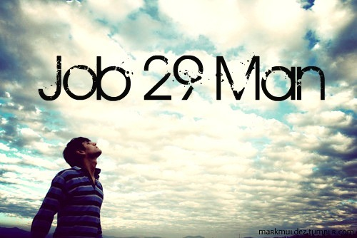 mandyislegendary:  Date a guy who aims to be a Job 29 Man.  Do you know the characteristics of a Job 29 Man? Well.. Let me tell you. He is the kind of guy who would rather stay at home reading his bible and spending time with God worshiping Him than to be out partying with a group of friends on a Friday night. He is the kind of guy who constantly longs for God's presence and who walks closely with Him. He desires for his heart to be transformed into His. Even if life gets tough, he knows that The Mighty One is holding his every moment and nothing seemed to be too difficult for him. He is also a genuine follower of Christ. He knows that in order to be a great leader, he needs to learn how to be a genuine follower. Don't be surprise if this guy is well respected and everyone greets him & honors him. That's because whenever he speaks, he speaks with love and grace. And when he walks, he walks with confidence and boldness Just like King David, he knows that his identity isn't based on his height or stature, but on Christ alone. With that said, he is also very passionate about Jesus and His Gospel. You'll know that he is because he will find a way to always help other people. He will help that blind lady cross the street and become her eyes, or even help that lame old man to stand up and be his feet. He will also stand up for those who are being mocked and persecuted. Even if it means him getting hurt, he will not fight back just like how Jesus did not fight back when He was being brutally tortured and beaten to death. That's when you'll know he is a solid follower of Christ.  Also don't forget, if ever you get to sit next to him during worship, watch and observe him how he worships God. . I'm talking about eyes closed, hands raised or perhaps you'll see him open His bible and even read and then next thing you know, he's on his knees crying. It's contagious! So you want to make sure you sit next to him during worship coz man, He knows how to worship Jesus with such reverence and awe One of the coolest things about a Job 29 Man is that he knows that he's not perfect. He acknowledges his flaws and mistakes. But that doesn't bother him because he knows that he is constantly being renewed everyday by His perfect Savior Christ. So it's normal for him to be prideful sometimes, but whenever that happens, he immediately repents and turns his eyes to God.  Another thing about a Job 29 Man is that unlike any other guys, he has made a covenant with his eyes to not look at any woman lustfully. He knows that your beauty is far more than what you look like on the outside, it's about letting Jesus shine from the inside. So for him, what matters is your heart, not any of your body 'parts' He's not the kind of guy who jumps from one girl to the other. No, he is patient and he waits upon the LORD and His perfect timing. He's a hard worker and he knows not only he understands hard labor, but he understand what it means to work out his salvation by keeping God's command and living out the gospel. He embraces Matthew 6:33 'to seek Him first and His kingdom and let the other things be given at the right time' So if you're a Proverbs 31 Woman & If you end up dating a Job 29 Man, consider yourself blessed because it's hard to find these kind of guys nowadays. Realize that if you have this kind of guy, the LORD has specifically hand picked him just for you and prepared the both of you for each other and for the gift of marriage and the ministry that He will set for both of you. That is to honor God and glorify Him by showing the world what a 'real love' should look like. You both are pretty much going to be the 'power couple'  So Ladies, if you're single and not married and you have the desire to be married one day, this is probably the right time to for you to pray for your Job 29 Man. Why? Because this man is going to be the man who will love you, lead you, help you, defend you, cherish you, adore you, provide for you and raise your future kids and teach them the way of Jesus. So yeah, date a guy who has all these God-given characteristics. Someone who is a Job 29 Man. Or better yet,  .. Marry a guy who loves Jesus.. period. In Christ, Mark Muldez (markmuldez.tumblr.com)