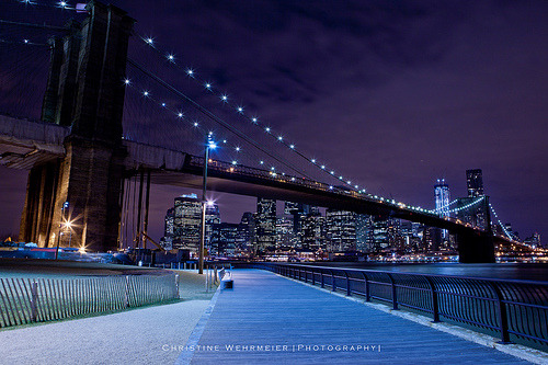 simplynorule:  Brooklyn Bridge Boardwalk @ Night [Explored] (by Christine Wehrmeier | Photography |)