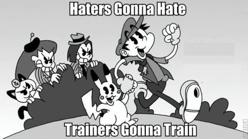 "gotham2hyrule:  Haters   Pokemon. ""A gonna A. """