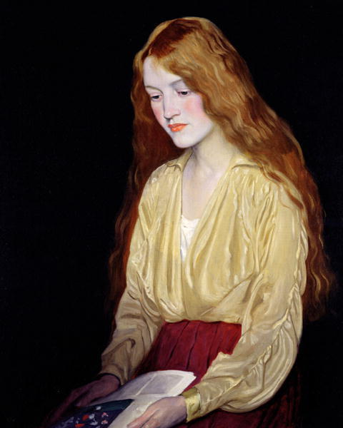 "willofheroes:  William Strang - ""Cynthia"" (1917)"