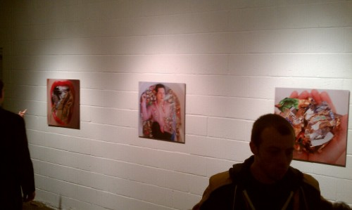 "My Metallic prints at ""showmen"" tonight at Brand 10 in Fort Worth."