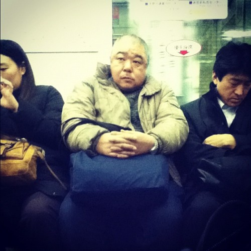 Squashed. #osaka #subway (Taken with instagram)