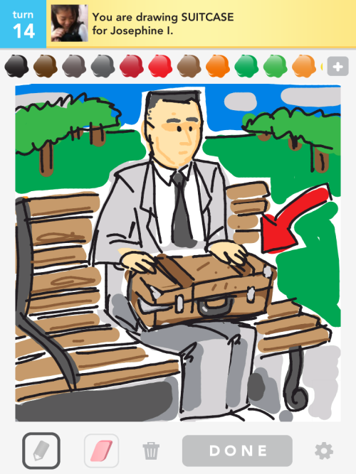 Another suitcase clue. Draw Something is like a box of chocolates, you never know what you're gonna get …