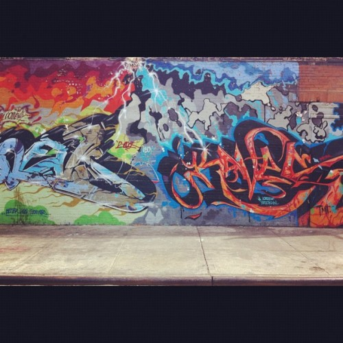 Graffiti wall 2. (Taken with instagram)