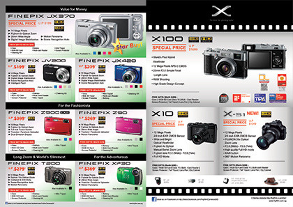 IT Show 2012 promotions: Fujifilm Check out the discounted prices and free gifts for Fujifilm's FINEPIX compact cameras and beautifully retro X-series higher-end cameras. Fujifilm is at the IT Show 2012 in Suntec Singapore at Level 4, Hall 402, Booth 8130.