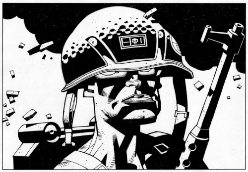 2000adonline:  hugonebula:  Rogue Trooper, by Mick McMahon.   And that is all you'd need to know as a guarantee of quality.