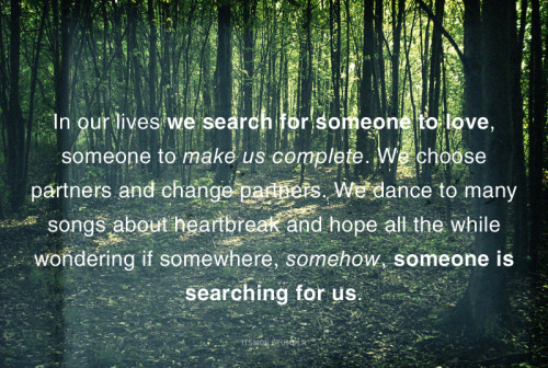 In our lives…