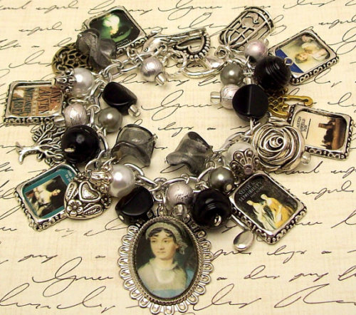 Jane Austen Books Charm Bracelet on etsy.com