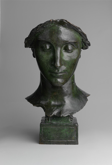 Study for the Head of the Melvin Memorial (bronze, 1907) – Daniel Chester French (American, 1850–1931)