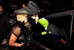 bloodymaryswag:  I Like This Picture ;) Gaga&Kermit :)
