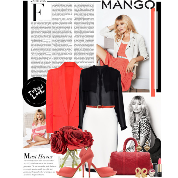 Fashion in Motion with MANGO & Kate Moss 2 by fildarina featuring small heels