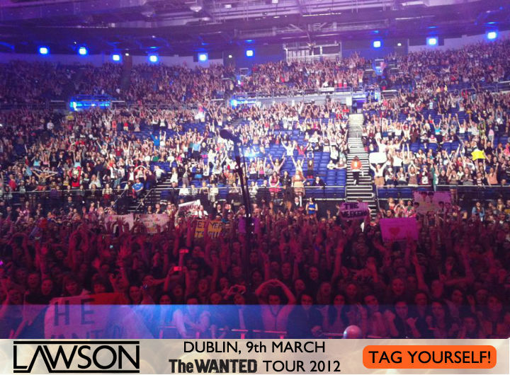 Lawson supporting The Wanted, Dublin O2 Arena - Mar 9 So sad for the tour to come to an end but Dublin you made it worthwhile. Thank you so much for making the last night incredible! CLICK THRU TO TAG YOURSELVES!