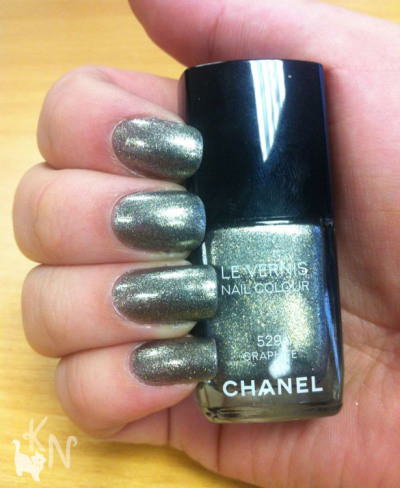 (via Chanel: Graphite Polish NOTD)