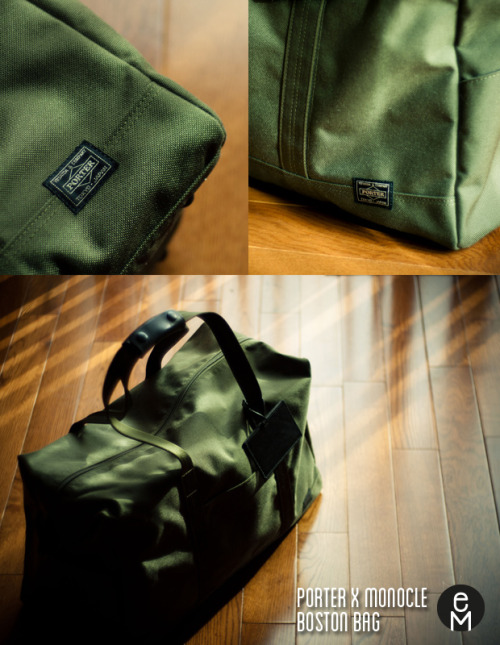 THE ONLY ONE  The Porter x Monocle boston bag is the only luggage you need for a short business/leisure trip. No need to line up for baggage claim because this fits in the overhead cabin. This bag also comes with a laundry bag, pouch for toiletries and also a drawstring bag for packing any extra clothes or souvenirs. This will be the perfect travel companion for this march break. Photo by extramedium.