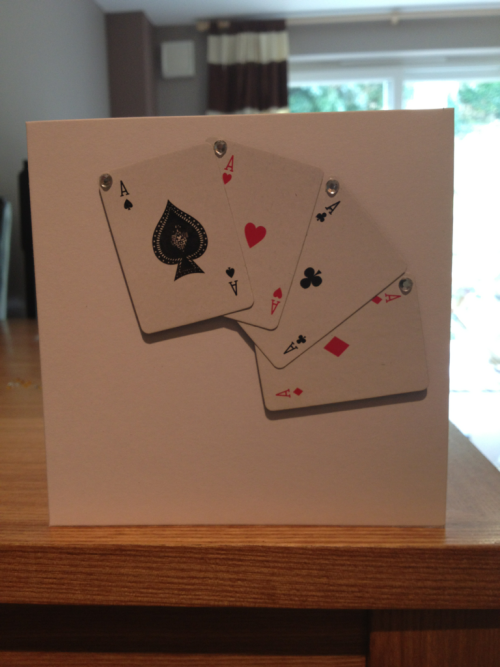 """Bling POKER"" card - £2.00 includes card, high quality envelope sent in sealed cellophane bag - 😍 all cards are left blank inside & are 1 off's - thanks !"