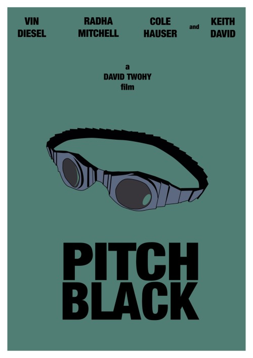 Pitch Black Minimal Movie Poster.