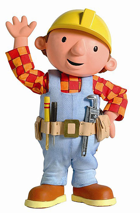 Bob the Builder repurposes! I love it, teaching kids that just because it is old and broken, it can still be repaired OR made into something useful. While Juliette (my daughter) was on the ground this morning playing with her toys, Bob the Builder was in the background building a composting bin out of old lumber and carpet that Gripper and Grabber were going to throw away. Awesome…keep it up Bob!
