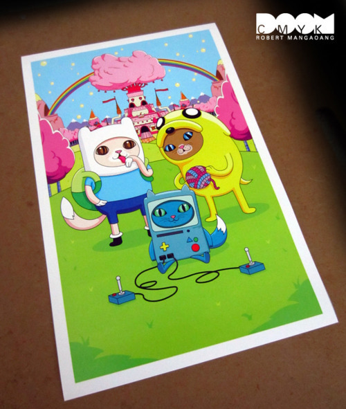 "Limited Edition Adventure Time fan art ""Meow Time"" posters. meow"