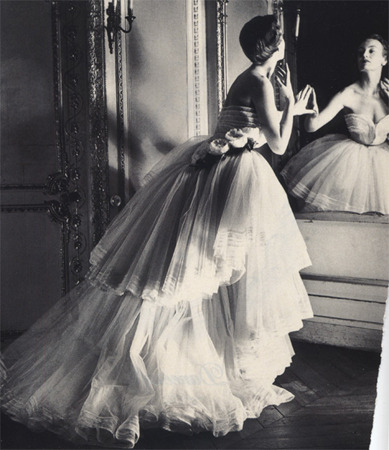 Vintage Christian Dior Wedding Gown.