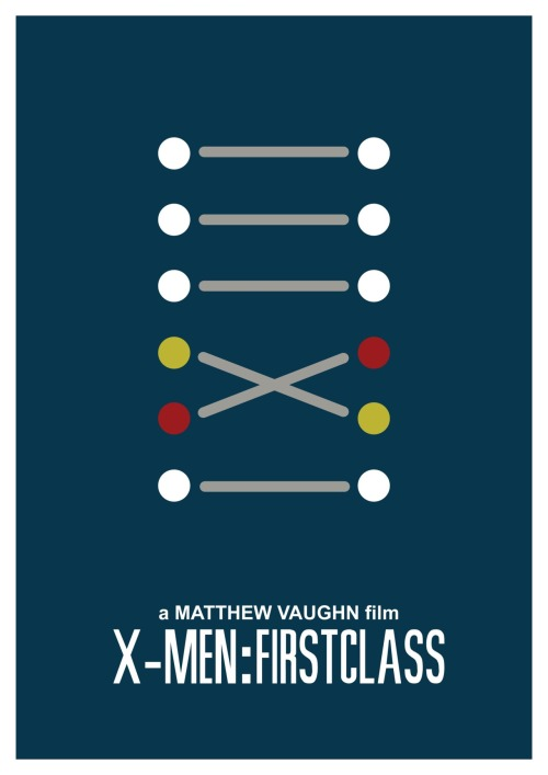 X-Men: First Class Minimal Movie Poster.