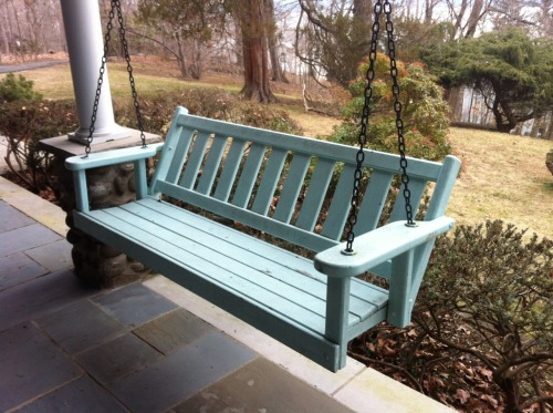 Life would be awesome if everyone had a porch swing like our friend Jean's.