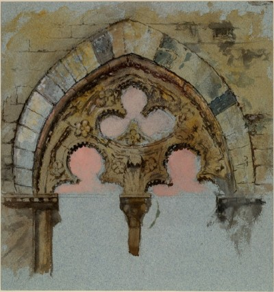 John Ruskin, A Window of the Palazzo Tolomei, Siena (1870)